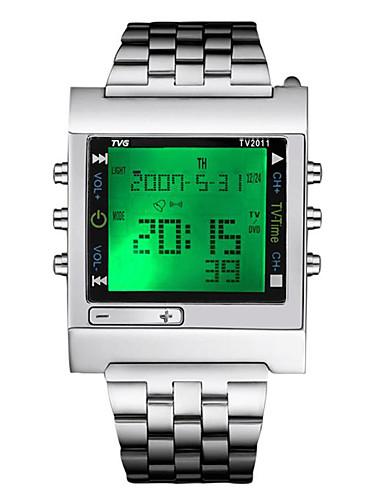 Γυναικεία Αθλητικό Ρολόι Στρατιωτικό Ρολόι Ψηφιακό ρολόι Ιαπωνικά Χαλαζίας Ανοξείδωτο Ατσάλι Ασημί 30 m Ανθεκτικό στο Νερό Ημερολόγιο Χρονογράφος Ψηφιακό Πολυτέλεια Καθημερινό Χριστούγεννα - Ασημί