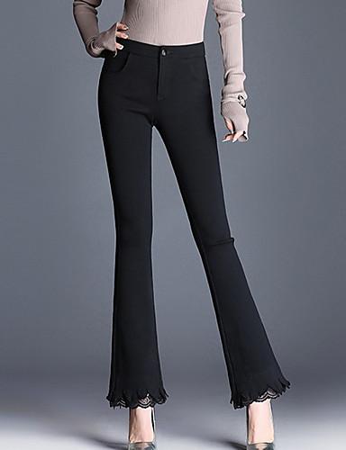 0eec2c7da6fc Women s Plus Size Chinos Pants - Solid Colored Black XXL 7012596 2019 –   41.99