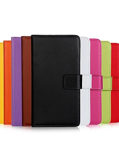 Кейс для Назначение Apple iPhone XS / iPhone XR / iPhone XS Max Кошелек / Бумажник для карт / со стендом Чехол Однотонный Твердый Настоящая кожа
