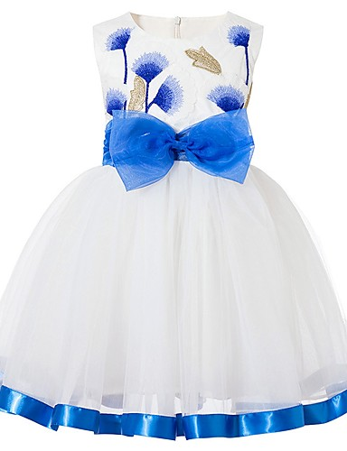 Djeca Djevojčice Osnovni Jednobojni Bez rukávů Haljina Plava