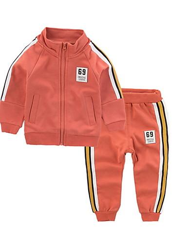 Djeca Dječaci Osnovni Dnevno Jednobojni Dugih rukava Komplet odjeće Djetelina