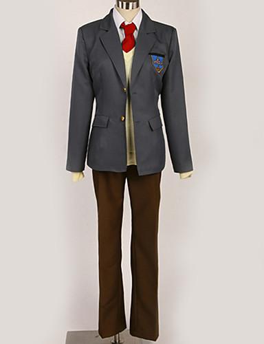 povoljno Maske i kostimi-Inspirirana Besplatno! Nagisa Hazuki Anime Cosplay nošnje Japanski Cosplay Suits / School Uniforms Jednobojni / Grad / Jednostavan Kravata / Kaput / Bluza Za Muškarci / Žene / Top