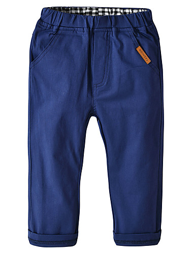 Kids Toddler Boys' Active Basic Daily School Solid Colored Pants Blue