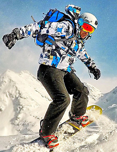 levne Kayaklar ve Snowboardlar-MUTUSNOW Pánské Lyžařská bunda a kalhoty Lyže Zimní sporty Voděodolný Větruvzdorné Prodyšné Polyester Celotělové oblečení Oblečení na lyže / Teplý / Zima