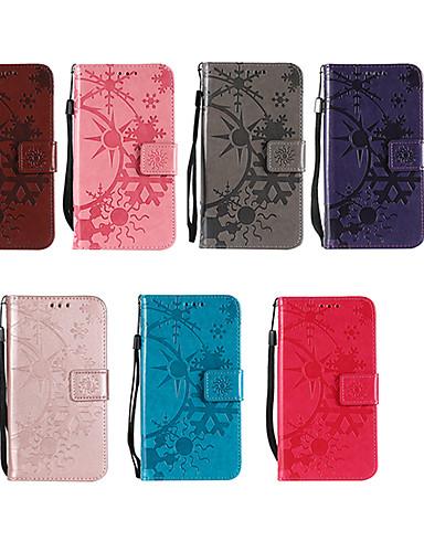 Θήκη Za Apple iPhone X / iPhone 8 Novčanik / Utor za kartice / sa stalkom Korice Jednobojni Tvrdo PU koža za iPhone X / iPhone 8 Plus / iPhone 8