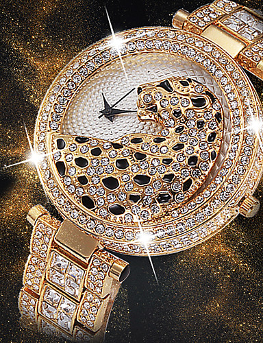 Žene Ručni satovi s mehanizmom za navijanje Diamond Watch Zlatni sat Japanski Japanski kvarc Nehrđajući čelik Srebro / Zlatna 30 m Kreativan New Design Cool Analog dame Luksuz Moda Bling Bling -