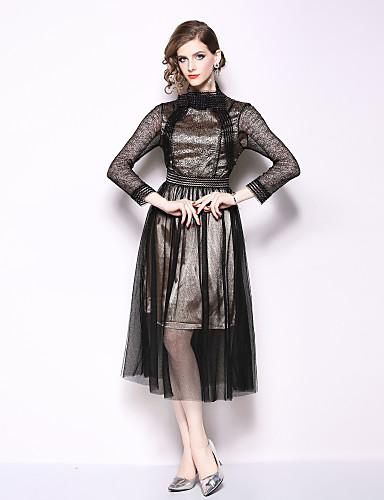 617fd2024d Mujer Sofisticado   Elegante Pantalones Malla Negro   Fiesta   Cuello Barco  6993846 2019 –  36.99