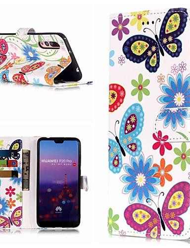 Θήκη Za Huawei Huawei P20 / Huawei P20 Pro / Huawei P20 lite Novčanik / Utor za kartice / sa stalkom Korice Rukav leptir Tvrdo PU koža