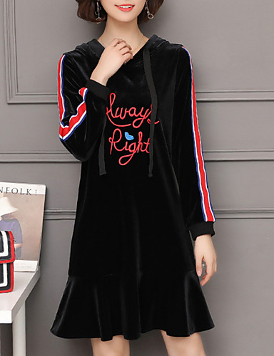 Women s Plus Size Daily Street chic Loose Shift Dress Black XXXL 4XL XXXXXL  7015327 2019 –  26.24 b6dba123596c