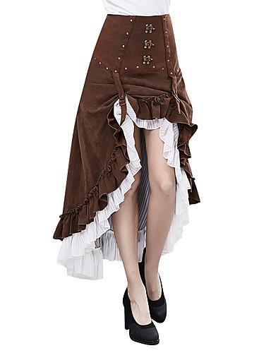 povoljno Maske i kostimi-Božica Steampunk Haljine Žene Kostim Kava Vintage Cosplay Dugo Pant