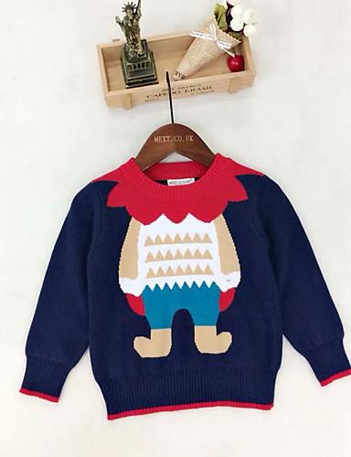 9958722d5a88e7 Kids   Toddler Boys  Basic Christmas Print Long Sleeve Regular Polyester  Sweater   Cardigan Red 6996333 2019 –  20.78