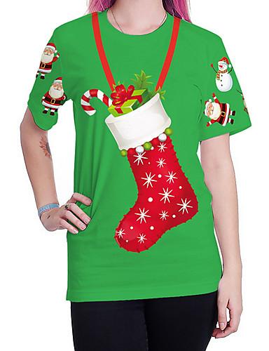 billige T-skjorter til damer-T-skjorte Dame - Tegneserie Gatemote Grønn