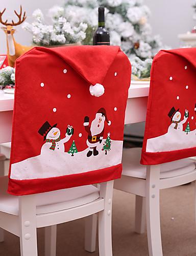 billige Julens andre ornamenter-jul tema stol setetrekk dekorative prop
