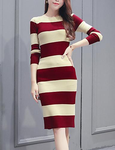 d8544fe058 Women s Daily Elegant Skinny Sheath   Sweater Dress Black Red One-Size  6993085 2019 –  27.29