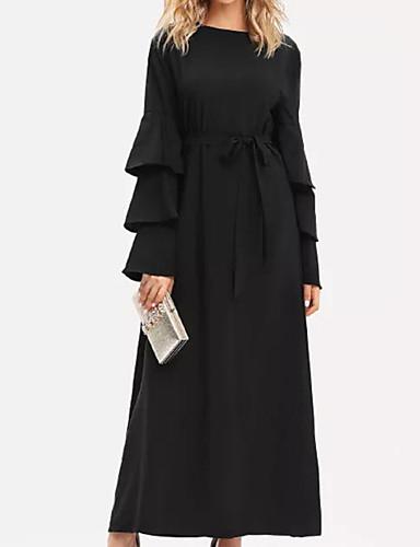 Mujer Fiesta Elegante Vaina Vestido Un Color Alta cintura Maxi   Sexy  6996282 2019 –  25.19 2dd86274dca0