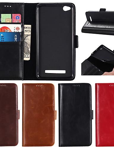 Θήκη Za Xiaomi Xiaomi Redmi Note 4X / Xiaomi Redmi Note 4 / Xiaomi Redmi Note 3 Novčanik / Utor za kartice / sa stalkom Korice Jednobojni Tvrdo prava koža / Xiaomi Redmi 4A / Xiaomi Mi 6