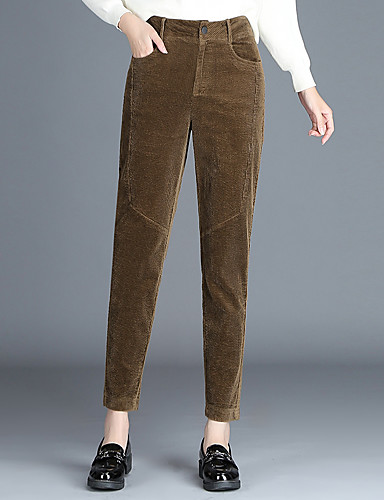 0d93e9a5a09c Women s Plus Size Chinos Pants - Solid Colored Brown XXL 7001662 2019 –   32.99
