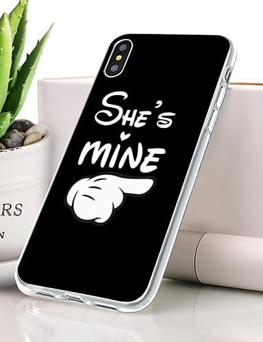 Θήκη Za Apple iPhone XS Max Protiv prašine / Ultra tanko / Uzorak Stražnja maska Riječ / izreka Mekano TPU