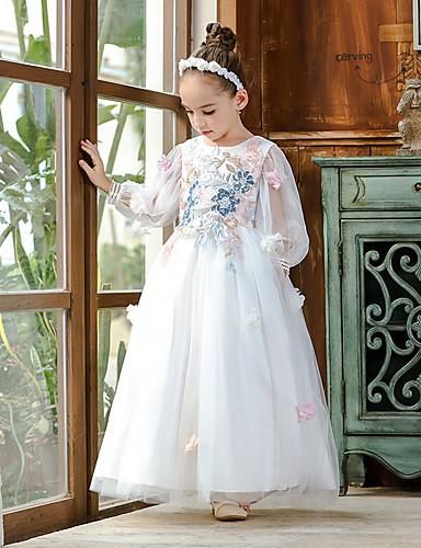 fe2dfef85 Princess Maxi Flower Girl Dress - Organza / Tulle / Satin Chiffon Long ...