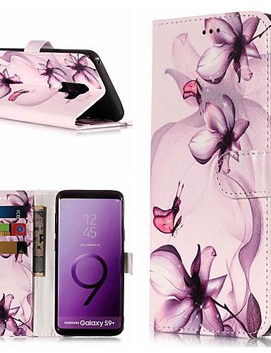 Θήκη Za Samsung Galaxy S9 / S9 Plus / S8 Plus Novčanik / Utor za kartice / sa stalkom Korice Cvijet Tvrdo PU koža