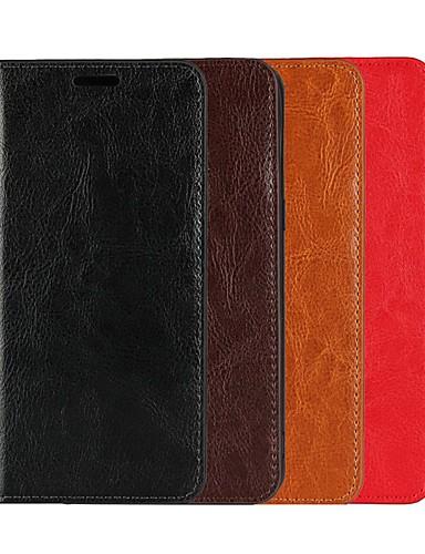 Θήκη Za OnePlus OnePlus 6 / One Plus 5 / OnePlus 5T Novčanik / Utor za kartice / sa stalkom Korice Jednobojni Tvrdo prava koža