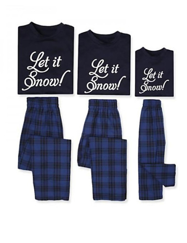 Obiteljski izgled Osnovni Božić Dnevno Slovo Dugih rukava Normalne dužine Majica s kratkim rukavima Plava