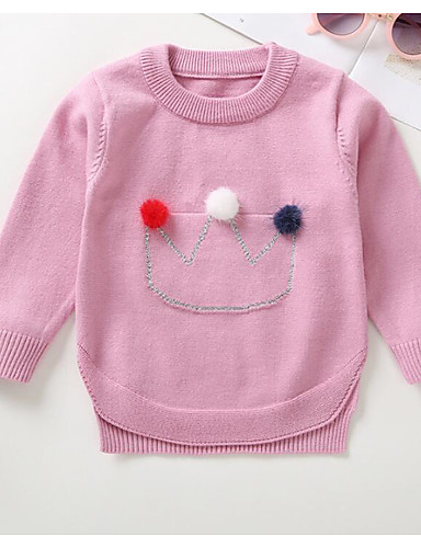 08f7d5241 Baby Girls  Vintage Solid Colored Long Sleeve Acrylic   Polyester ...