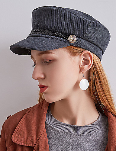 c885e217b [$13.85] Women's Vintage Party Wool Tweed Beret Hat Bowler / Cloche Hat  Newsboy Cap-Solid Colored Fall Winter Beige Camel Gray / Leather