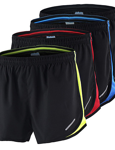 cheap Running & Jogging Clothing-Arsuxeo Men's Running Shorts Athletic Shorts Bottoms Mesh Fitness Gym Workout Training Bodybuilding Athletic Breathable Quick Dry Soft Plus Size Sport Red / black Black / Yellow Black / Blue