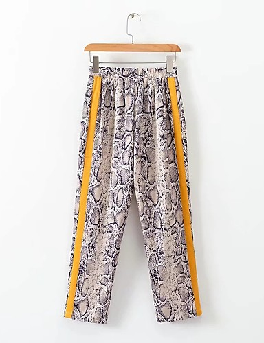 45b6dd98a4 Mujer Básico Chinos Pantalones - Un Color Borla Caqui 7019687 2019 –  21.99