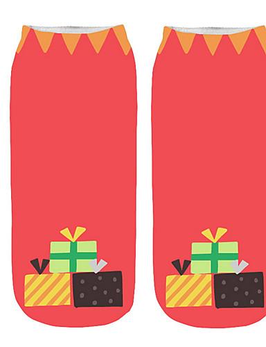 preiswerte Weihnachts-Shop-Damen Socken - Geometrisch, Druck Medium Weiß Rosa Grün Einheitsgröße