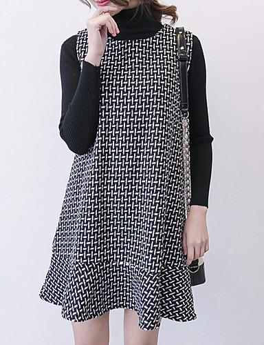 Women s Daily Elegant Loose Shift Dress Turtleneck Black XXL XXXL 4XL  6994202 2019 –  29.53 e19124ca54a5