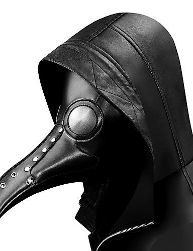 povoljno Maske i kostimi-Liječnik plague Steampunk Povorka maski Sve Kostim Crn Vintage Cosplay / Mask / Mask
