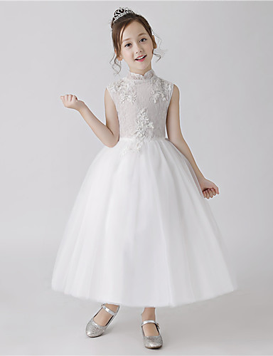 3d53cfb6db41 Πριγκίπισσα Μακρύ Φόρεμα για Κοριτσάκι Λουλουδιών - Πολυεστέρας Αμάνικο  Ζιβάγκο με Δαντέλα με LAN TING Express 7028690 2019 –  42.74