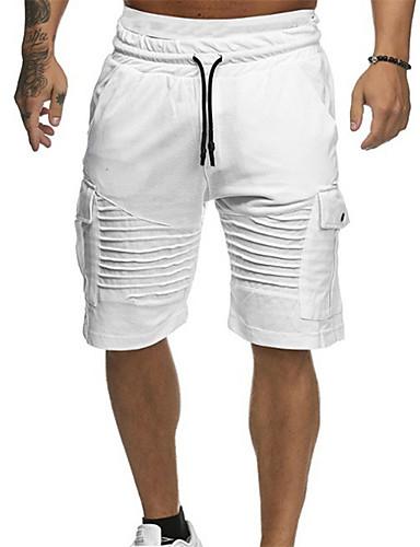 billige Shorts-Herre Grunnleggende Daglig Shorts Bukser - Ensfarget Grønn Hvit Rød XL XXL XXXL