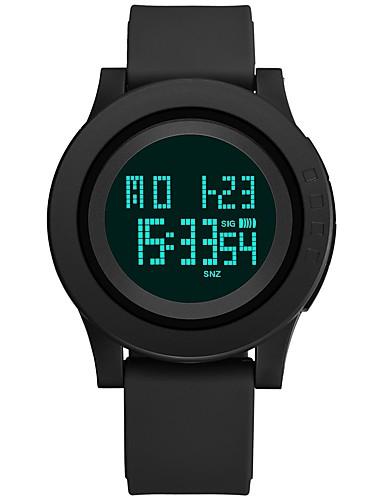 Herre Sportsur Digital Watch Japansk Digital Silikone Sort / Kløvergrøn 30 m Vandafvisende Kalender Stopur Digital Mode - Sort Grøn / Selvlysende i mørke