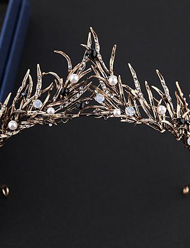 cheap Costumes Jewelry-Black Swan Vintage Elegant Crown Masquerade Women's Costume Tiaras Golden / White Vintage Cosplay