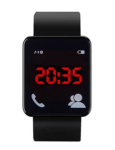 Muškarci Ručni satovi s mehanizmom za navijanje Šiljci za meso Silikon Crna 30 m Vodootpornost LCD Analog Ležerne prilike Moda - Pink Crvena Plava