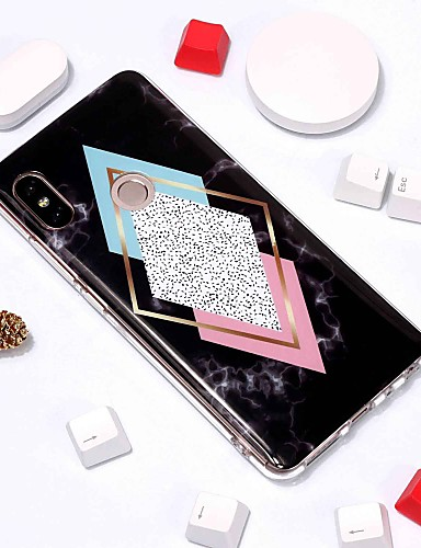 Capinha Para Xiaomi Xiaomi Redmi Note 5 Pro / Xiaomi Redmi Note 6 / Xiaomi Pocophone F1 Estampada Capa traseira Mármore Macia TPU