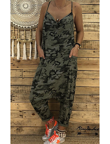 8a4f1d4ff9 Women s Daily Street chic Strap Black Pink Army Green Jumpsuit ...