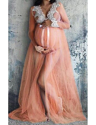 cheap Maternity Dresses-Women's Maternity Sheath Dress Sleeveless Solid Colored Lace Basic Daily Wine Blushing Pink Beige Light Blue S M L XL / Maxi