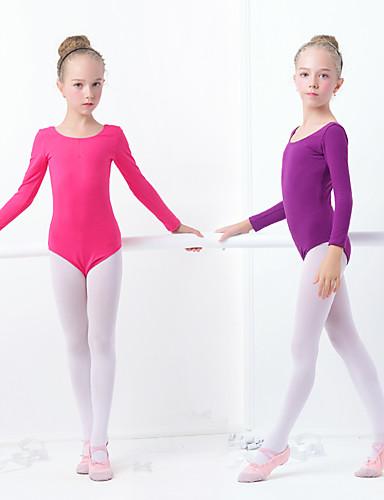 preiswerte Tanzkleidung-Ballett Turnanzug Mädchen Training / Leistung Elastan / Lycra Elastisch Langarm Gymnastikanzug / Einteiler