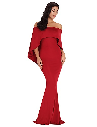 31d69bc81643 Women's Party Elegant Maxi Skinny Bodycon Dress - Solid Colored High Waist Strapless  Summer White Black Red S M L / Sexy 7057391 2019 – $32.99