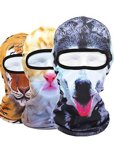 povoljno Odjeća za vožnju biciklom-Face Mask UV otporan Prozračnost Ovlaživanje Prašinu Bicikl / Biciklizam Siva + bijela Brown + Gray Siva Poliester za Muškarci Žene Odrasli Vježbanje na otvorenom Natrag Zemlja Bicikl S uzorkom krzna
