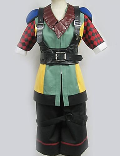 povoljno Anime cosplay-Inspirirana Final Fantasy Cosplay Anime Cosplay nošnje Japanski Cosplay Suits Kolaž / Miks boja Rukavice / More Accessories / Kratke hlače Za Muškarci / Žene