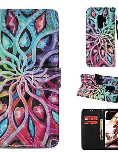 Θήκη Za Samsung Galaxy S9 Plus Novčanik / Utor za kartice / Zaokret Korice Mandala Tvrdo PU koža
