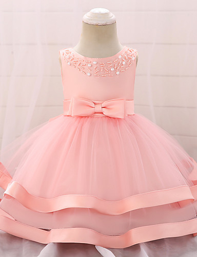 61a54a229 Baby Girls' Active / Basic Party / Birthday Solid Colored Lace Sleeveless  Knee-length Cotton Dress Blushing Pink 7070520 2019 – $21.94