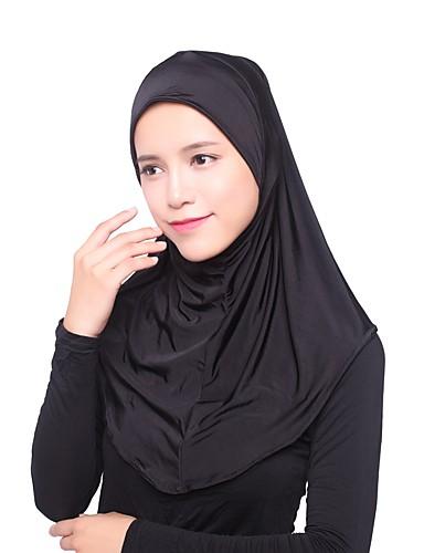 preiswerte Hidschab-Damen Grundlegend, Kunstseide Hidschab - Mehrlagig Solide / Ganzjährig