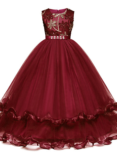 9ada1eafeb7 Princess Long Length Flower Girl Dress - Satin   Tulle Sleeveless Jewel Neck  with Bow(s)   Crystals   Embroidery by LAN TING Express 7175138 2019 –   39.99