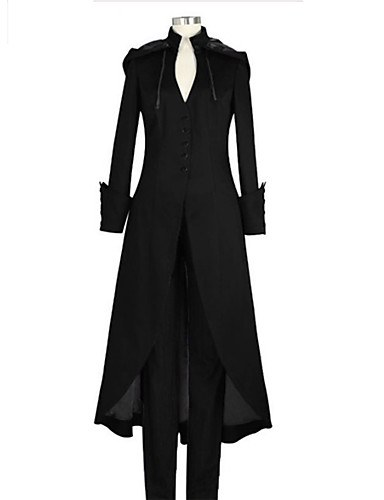 povoljno Maske i kostimi-Liječnik plague Vintage inspirirano Steampunk Kaput Mantil Muškarci Žene Kostim Crn / purpurna boja / Tamno zelena Vintage Cosplay Dugih rukava